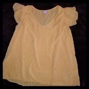 Womans small yellow top